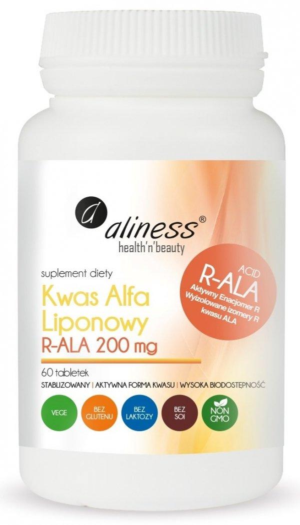 Kwas Alfa Liponowy R-ALA 200 mg 60 tabletek Aliness