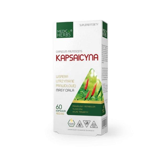 Medica Herbs Kapsaicyna wspomaga układ pokarmowy