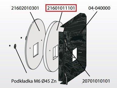 KOSTRZEWA Izolacja drzwiczek przód 30mm Mini Bio 20 kW