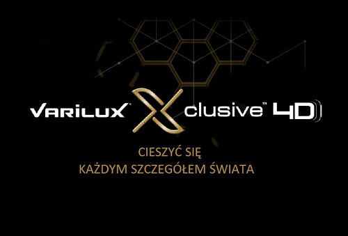 Varilux Xclusive 4D z antyrefleksem Crizal Sapphire UV