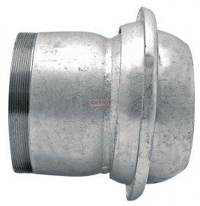 Złącze męskie mufa z gwintem zewnątrznym ocynkowane ogniowo - 4 SYSTEM WŁOSKI