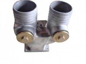 Kolanko wylotu podwójne FI80 (KD 6500-14000)