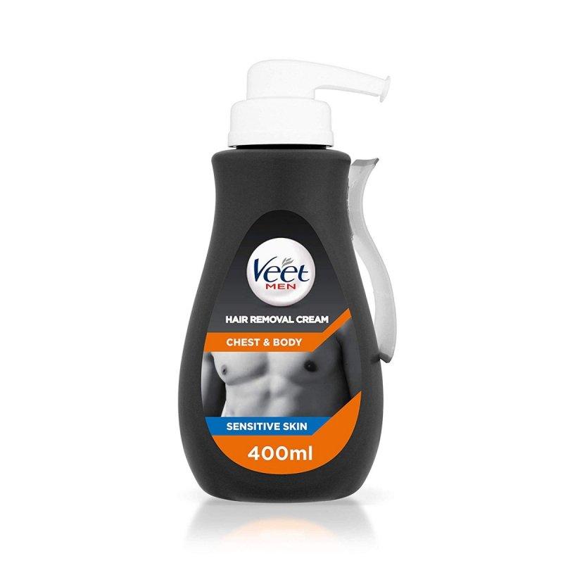 VEET FOR MEN 400ml - KREM DO DEPILACJI DLA MĘŻCZYZN - do skóry wrażliwej z aloesem i witaminą E