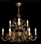 Żyrandol mosiężny JBT Stylowe Lampy WZMB/262/6+3