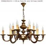 Żyrandol mosiężny JBT Stylowe Lampy WZMB/292/6+6