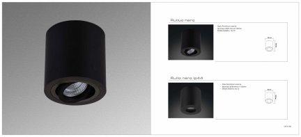 Oprawa natynkowa Rullo nero IP44 Orlicki Design
