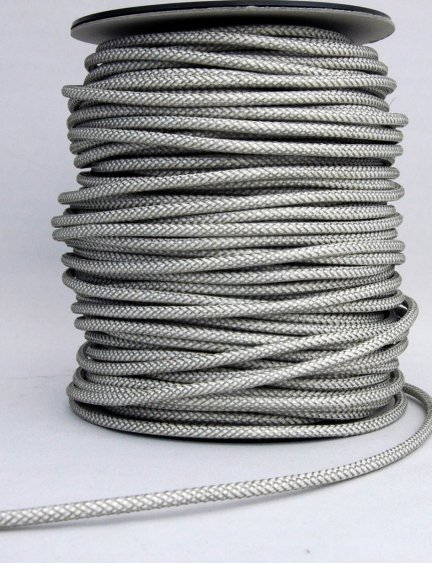Kabel w oplocie metalowym przewód 2x0,75 Duna biała