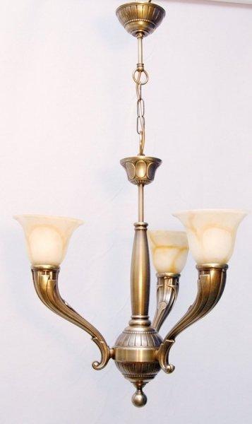 Żyrandol mosiężny JBT Stylowe Lampy WZMB/726/3