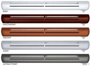 Nawiewnik higrosterowany EXR + łącznik akustyczny + okap standardowy - 5 kolorów