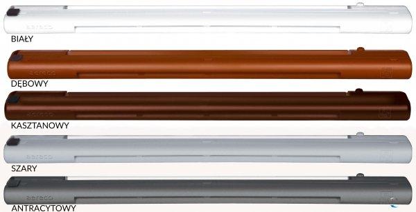 Nawiewnik higrosterowany EMM + okap akustyczny - 5 kolorów