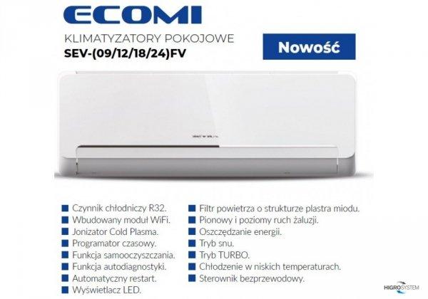 Klimatyzator pokojowy SEVRA Ecomi SEV-09FV