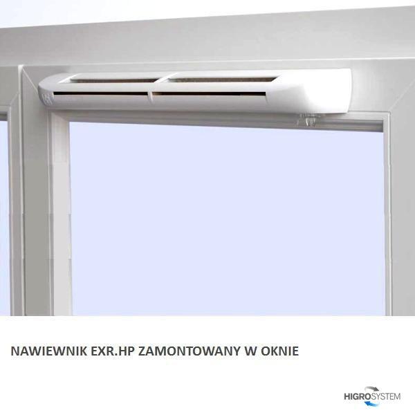 Nawiewnik higrosterowany EXR.HP + podkładka montażowa + okap AC - 4 kolory