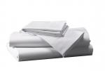 Prześcieradło białe hotelowe NORIS 180x220 100% bawełna