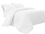 Poszwa biała hotelowa NORIS 180x200 100% bawełna
