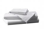 Prześcieradło białe hotelowe NORIS 220x220 100% bawełna