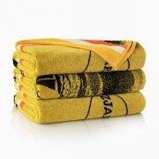 Ręcznik plażowy KOSTEK żółty - rozmiar 100x160
