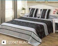 Narzuta dekoracyjna 170x210 + dwie poszewki 40x40 wz. 120047 black