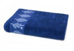 Ręcznik TERRA - rozmiar 70x140 wz. Granat