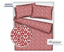 Poszewka na jasiek wz. Renifery czerwone, rozmiar 40x40 100% bawełna ŚWIĄTECZNE WZORY