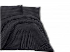 Pościel satynowa DARYMEX kolekcja Luxury 160x200 lub 140x200 + 2x70x80 wz. CIZGILI BLACK