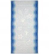 Ręcznik FLORA OCEAN 50x100 kolor niebieski