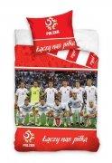 Pościel sportowa licencyjna 100% bawełna 160x200 lub 140x200 - Reprezentacja Polski - wz. PZPN171017
