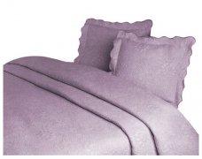 Narzuta GRENO Żakardowa na łóżko 170x210 wz.  FLOWER liliowy