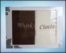 Komplet ręczników WUJEK CIOCIA kolor c.brąz/ecru
