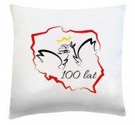 Poduszka patriotyczna 40x40 wz.  1 100 lat