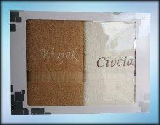 Komplet ręczników WUJEK CIOCIA kolor beż/ecru