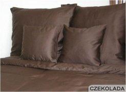 Poszewki na poduszki 40x40 satyna ANDROPOL wz. Brąz 80053