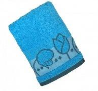Ręcznik TULIPANO 50x90 kolor niebieski