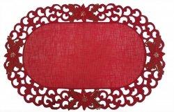 Obrus Ozdobny wz. SUP 30x45 Kolor: czerwony