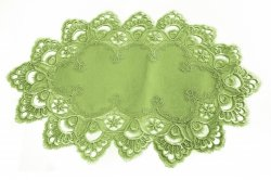 Obrus gipiura 35x50 wz. 8139 Kolor: Zielony