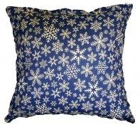 Poszewka na poduszkę wz. Śnieżynki granatowe, rozmiar 70x80 100% bawełna ŚWIĄTECZNE WZORY