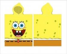 Ręcznik kąpielowy poncho 50x115 SpongeBob wz.SBOB163030
