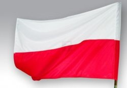 Flaga Polski rozm. 150x92 - POLSKA
