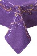 Obrus Haftowany Bruna 90x150 cm kolor: fiolet