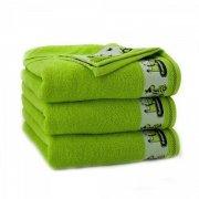 Ręcznik frotte KOPAROZAURY 70x130 kolor zieleń fluorescencyjna