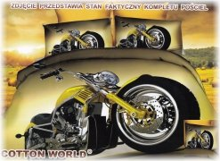 Pościel Mikrowłókno 3D MOTO roz. 160x200 lub 140x200wz. FPW 148