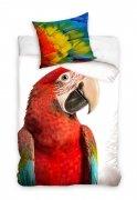 Pościel młodzieżowa 100% bawełna 160x200 lub 140x200 - Papuga NL163001