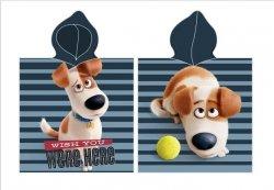 Ręcznik kąpielowy poncho 50x115 Dog Sekretne życie zwierzaków wz. SL09001-1
