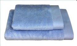 Ręczniki BAMBOO STYLE Andropol 50x100 wz. pudrowy niebieski