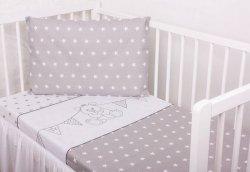 Pościel dziecięca  do łóżeczka 100x135 wz. Miś i Chorągiewki 077 SZ