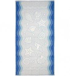 Ręcznik FLORA OCEAN 70x140 kolor niebieski
