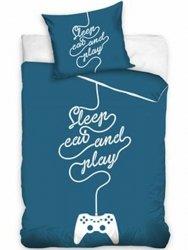 Pościel młodzieżowa 100% bawełna 160x200 lub 140x200 - Sleep eat and play - wz.  NL187013
