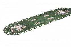 Obrus Świąteczny Boże Narodzenie wz. 271, rozmiar 40x110cm Kolor: zielony