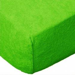 Grube Prześcieradło FROTTE 180x200 na gumkę wz. 014 zieleń nowa 2