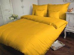 Poszewki na poduszki 40x40 satyna ANDROPOL wz. Żółtko 004