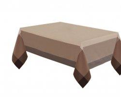 Obrus rozmiar 140x260 wzór beż/czekolada (218)
